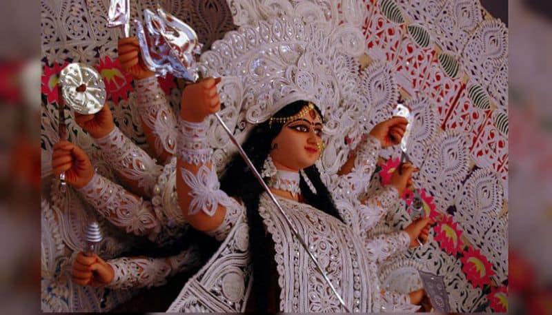 How goddess Durga had arrived to destory the negative energy