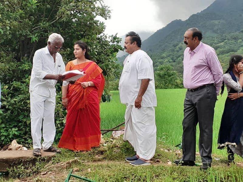 ap deputy cm pamula pushpa sreevani pay key role in amrutha bhumi movie