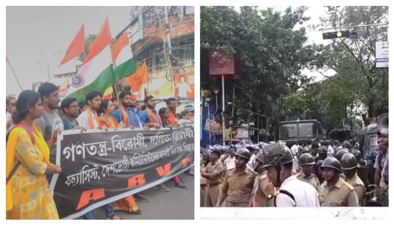 Tension in Jadavpur after police stops ABVP rally