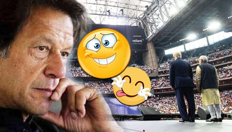 Clean bowled: Pakistan PM Imran Khan's reaction before and after the Howdy Modi event in Houston