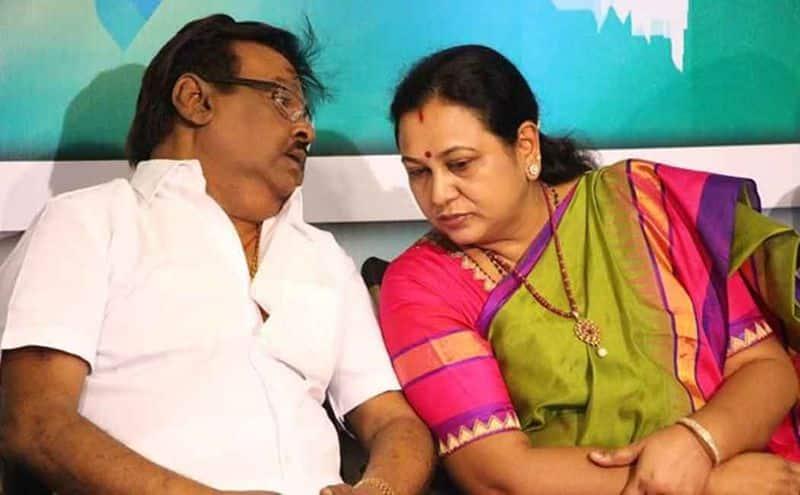Premalatha Vijayakanth gives tuff to Rajini