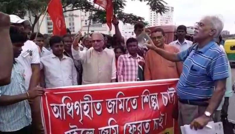 Farmers goes for agitation after not getting due against plot