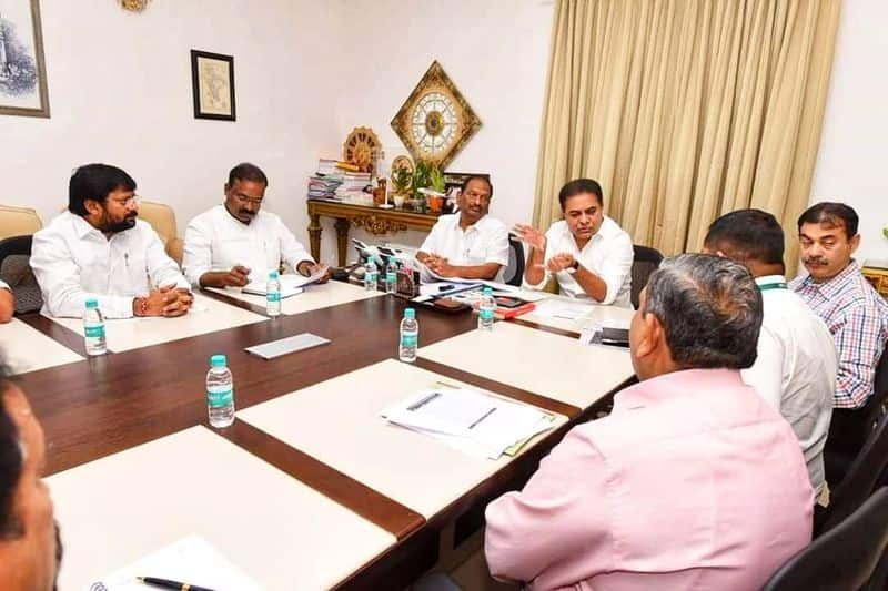 ktr reviews on ramagundam factory with industrial officers