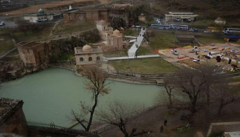 It is said, shiva temple of Katasraj in Pakistan has a pond that was formed with shiva tears