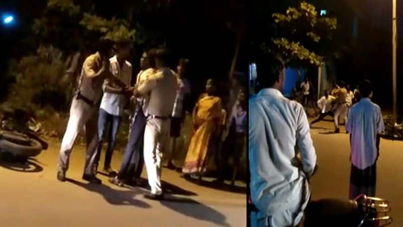 rowdy attacked police... peoples shock