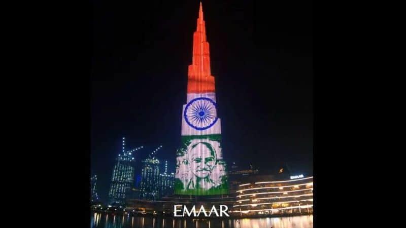 Gandhi Jayanti 2019 Burj Khalifa pays tribute, lights up with Bapu's images