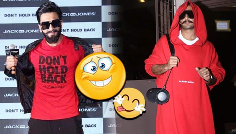Ranveer Singh's larger than life image gets covered under oversized clothes
