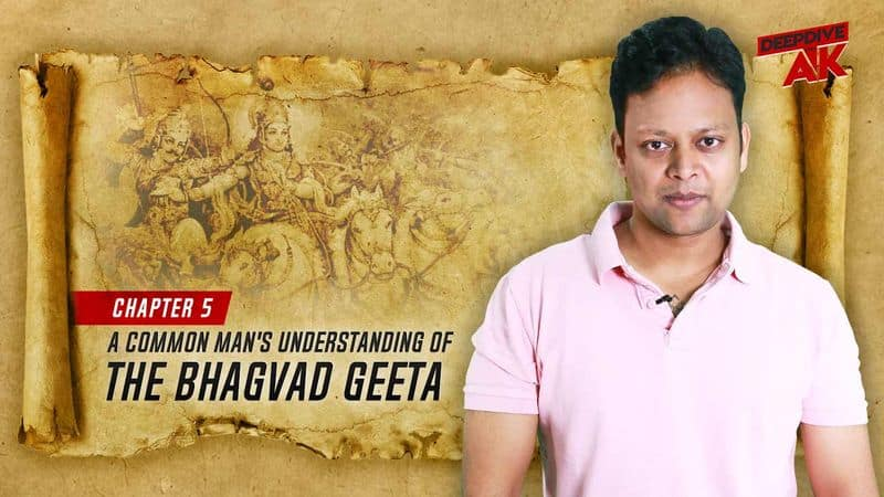 Deep Dive with Abhinav Khare Path of renunciation or karma as explained in Bhagvad Geeta