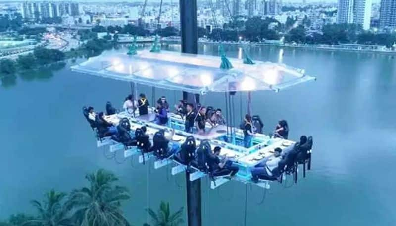 This Fly Dining restaurant in Noida serves food, adventure up in the air