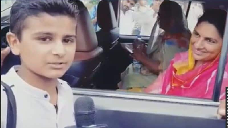 Haryana junior journalist Goldy Goyat poses hard hitting questions to election candidates wins hearts