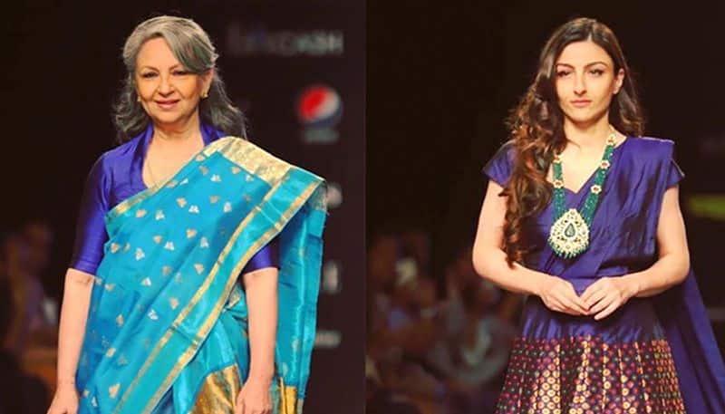 Lotus Make-up India Fashion Week: Sharmila Tagore, Soha Ali Khan walk for Sanjukta Dutta