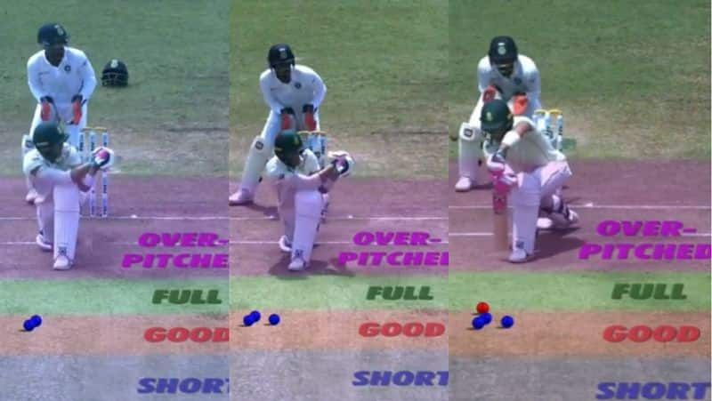 du plessis change of approach of ashwin bowling is the reason for lost his wicket