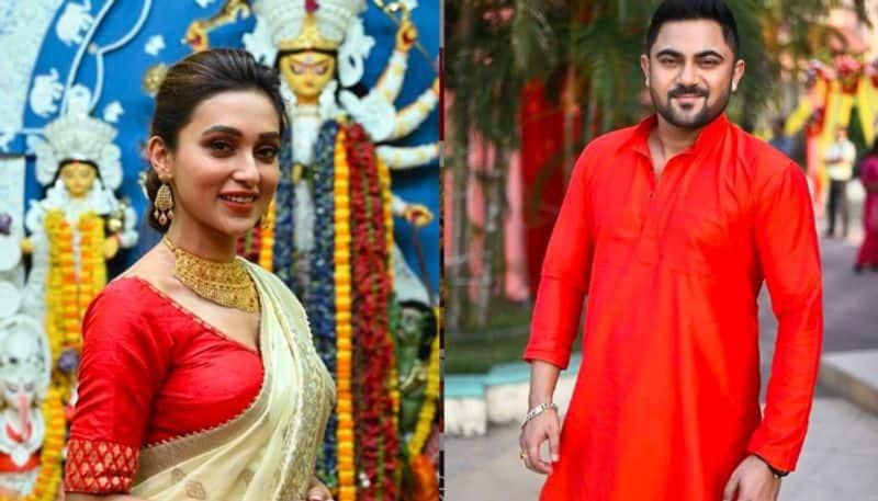 Mimi and Sohom wish on social media in the occasion of kojagori lakshmi puja