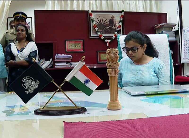 pranil patil, india's first visually challenged woman IAS officer, takes charge as sub collector of thiruvananthapuram