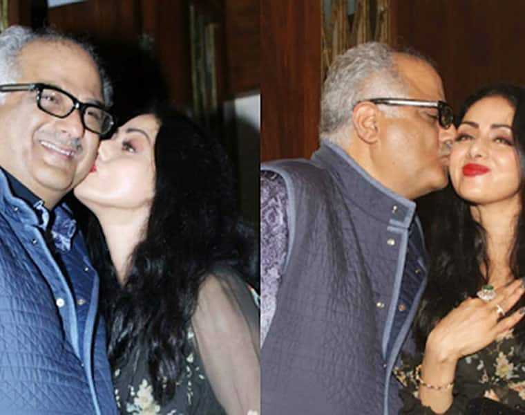 Watch Sridevi kisses Boney Kapoor in public video goes viral