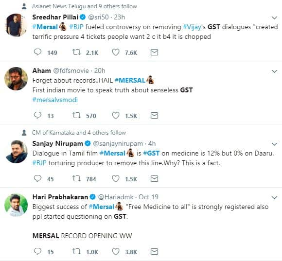 GST dialogue from Vijays Mersal removed What is BJP trying to prove