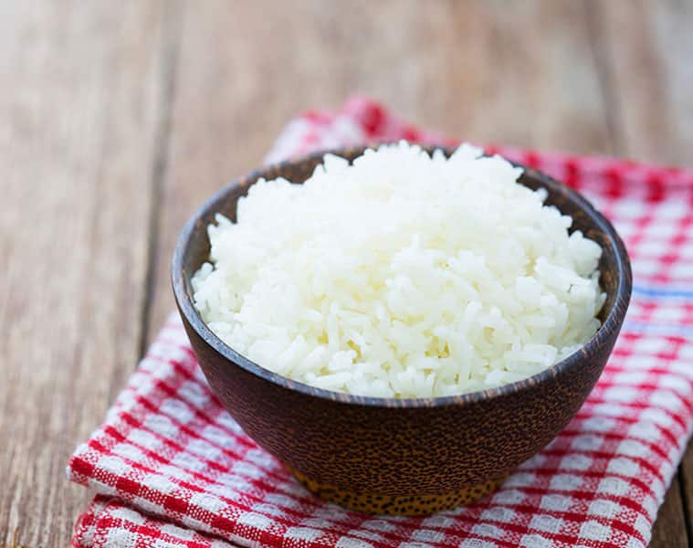 Rice will reduce the body's extra fat