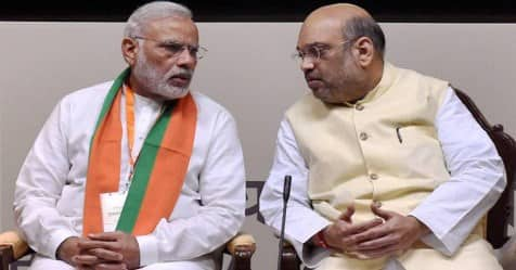PM Narendra Modi holds highlevel meet with Amit Shah