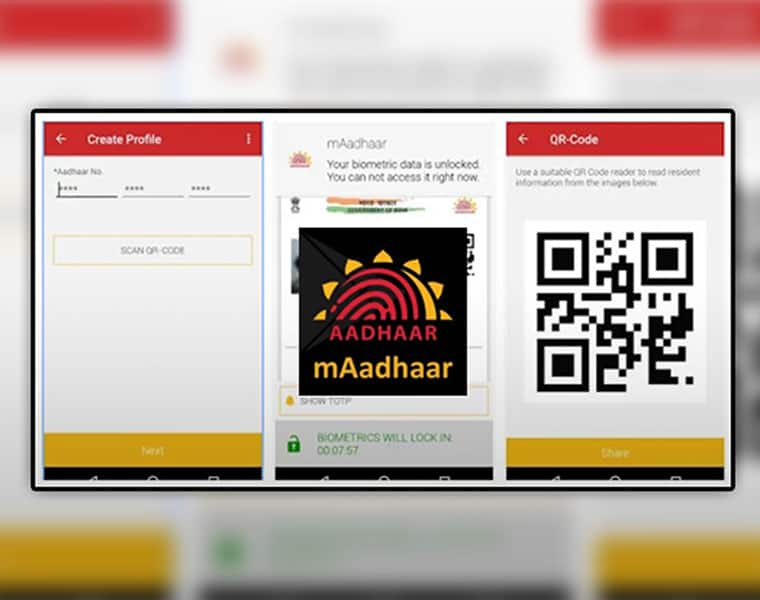 You can add up to 5 profiles in your mAadhaar app ksp