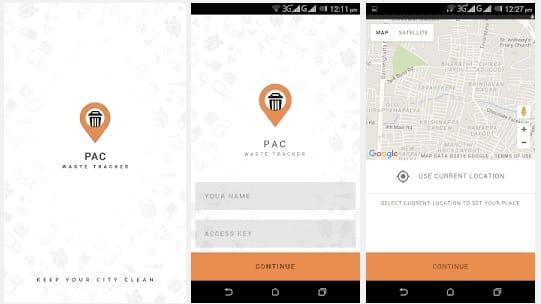 pac waste tracker app