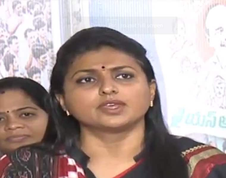 Roja says naidu doing pujas with shoes are main reasons for mishaps