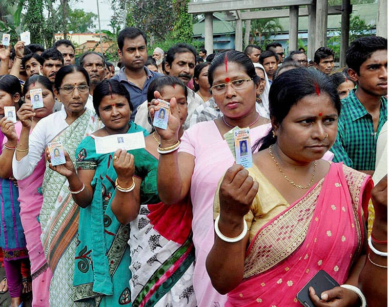 Assam panchayat polls Voting begins first phase Citizenship Bill row