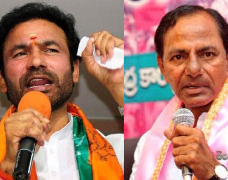 BJP kishan Reddy alleges KCR trying to tarnish OU image