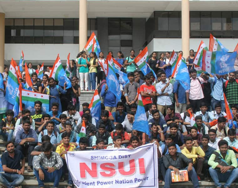Students Protest Against VTU
