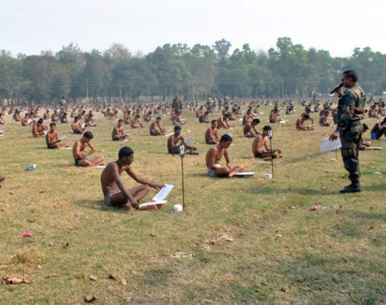 indian army cancels recruitment exam after paper leake ksp