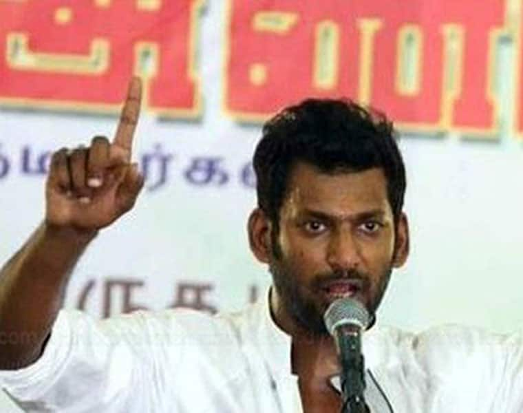 admk party got so angry on actor vishal due to his attitude