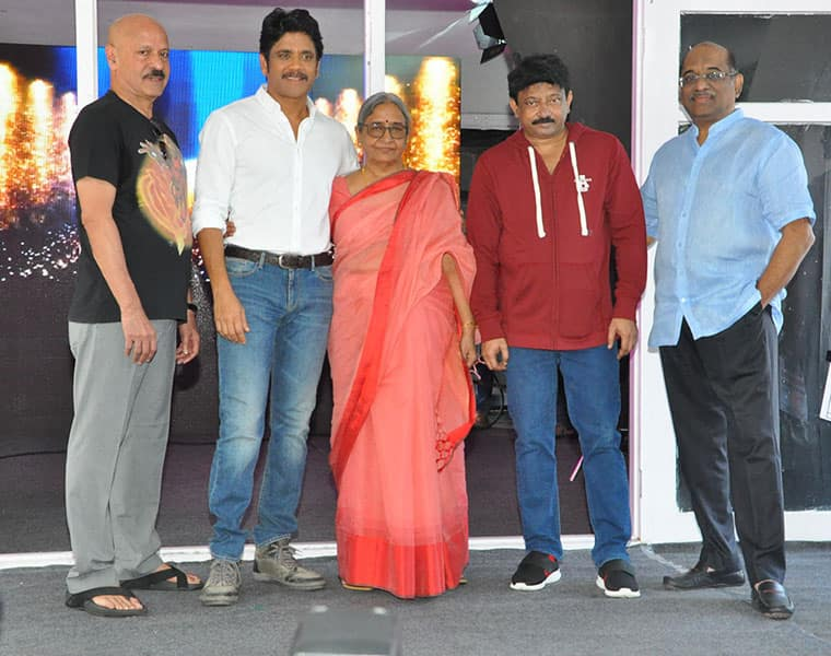 nagarjuna rgv movie opening event with sarcastic comments