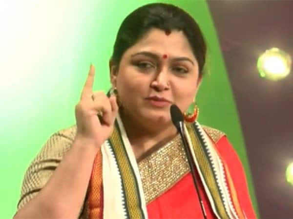 actress kushboo criticized congress part after Delhi election result