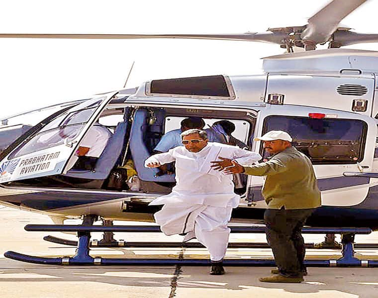 helicopter for cm siddaramaiah is run by inexperienced pilots