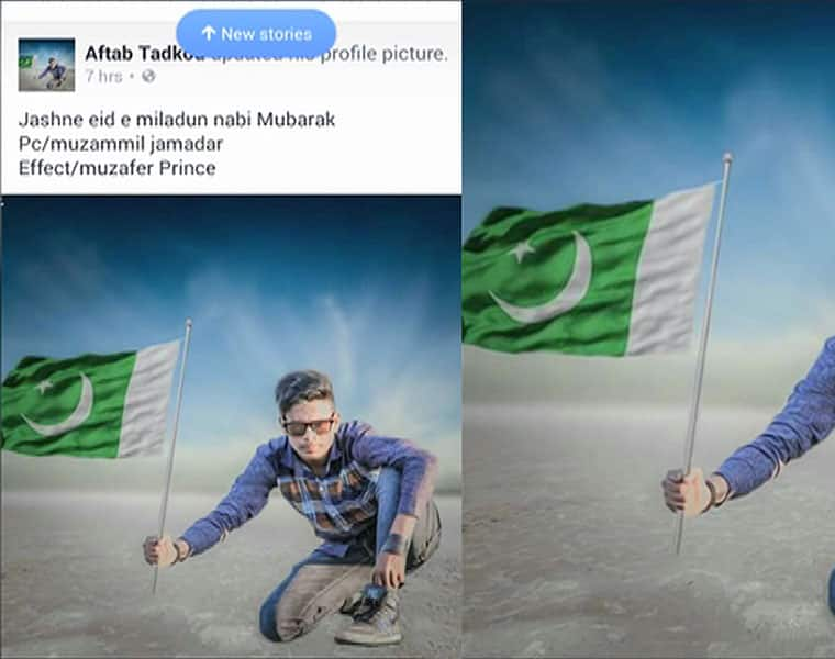 Dharwad Not Uploaded his Photo To FB By Holding The Pak Flag