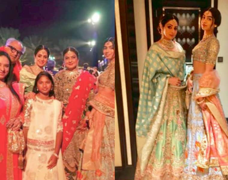 Farewell Sridevi Teary eyed Boney Kapoor and daughters stand as the pyre was lit