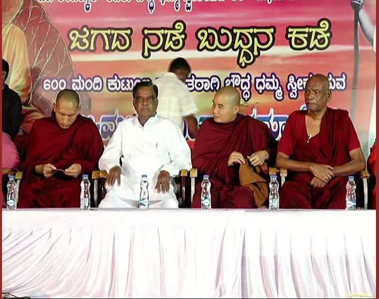 srinivas prasadh cry in mysuru programme