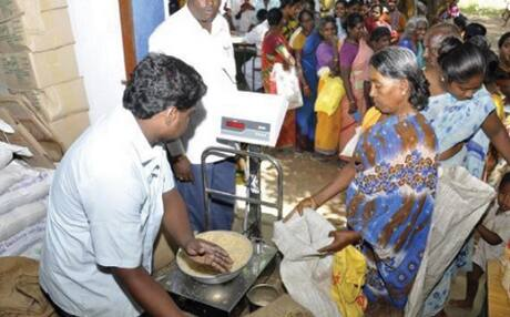 ADMK and DMK Between Word War in Ration Shop Issue