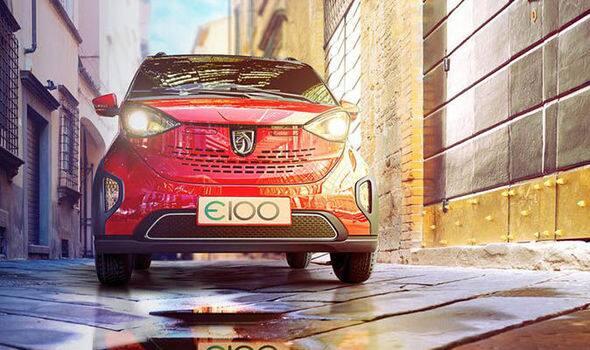 Baojun E100 EV spied in India