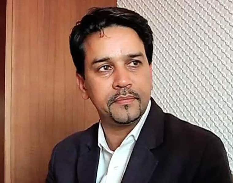 Economy slowdown Union minister Anurag Thakur blames Manmohan Singh Chidambaram