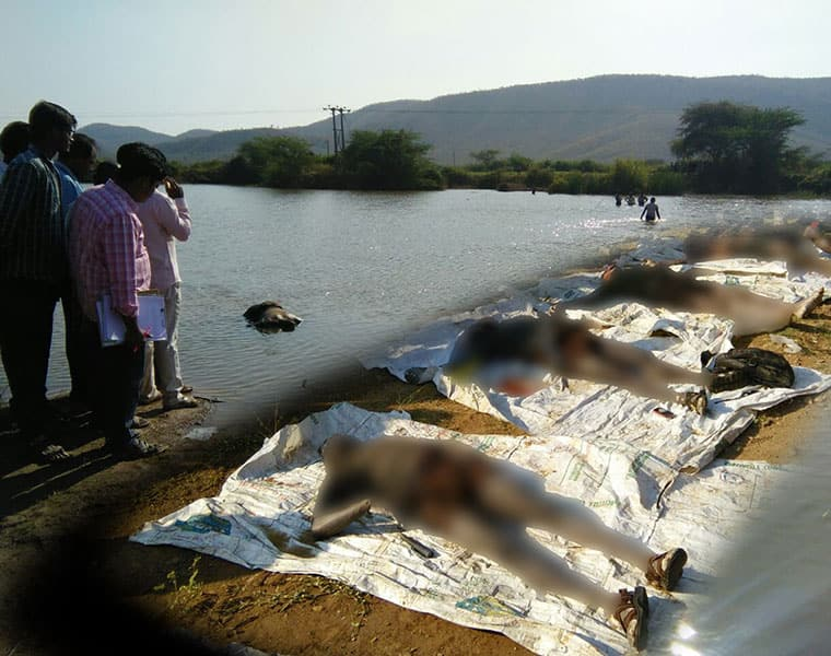 Five found dead after drowning in a lake in AP lake