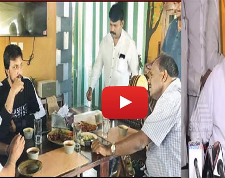 Kichcha Sudeep at HD Kumaraswamys house for 2 hour long talk raises political speculation