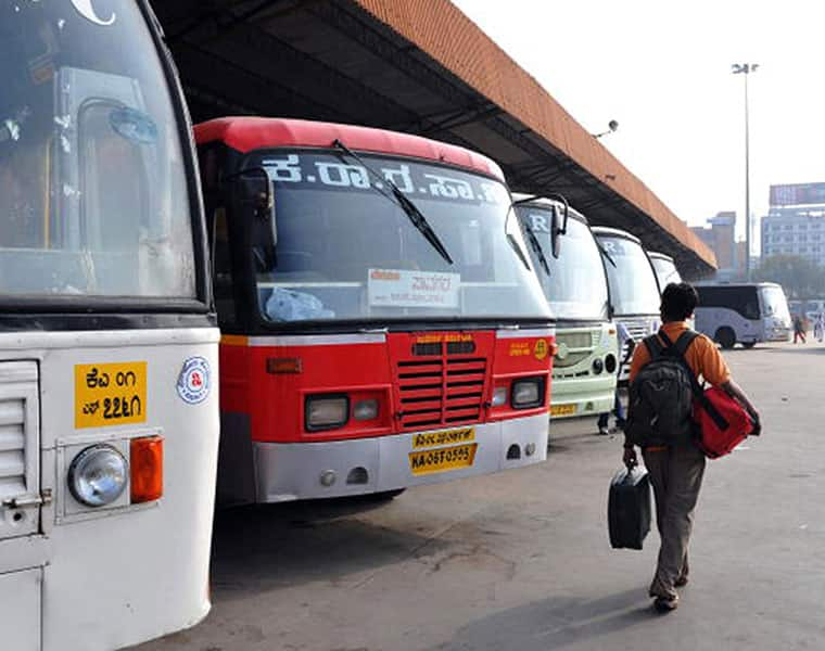 Karnataka Bus strike enters 13th Day transport services hit entire state ckm