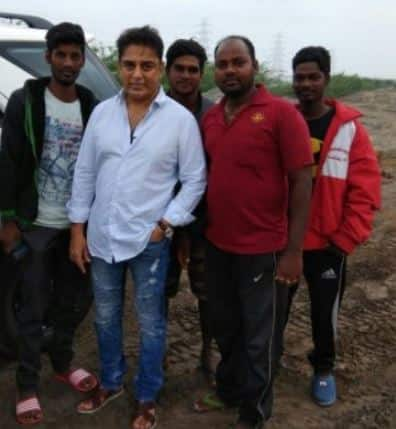 A day after voicing his concern actor Kamal Haasan visits the Ennore creek