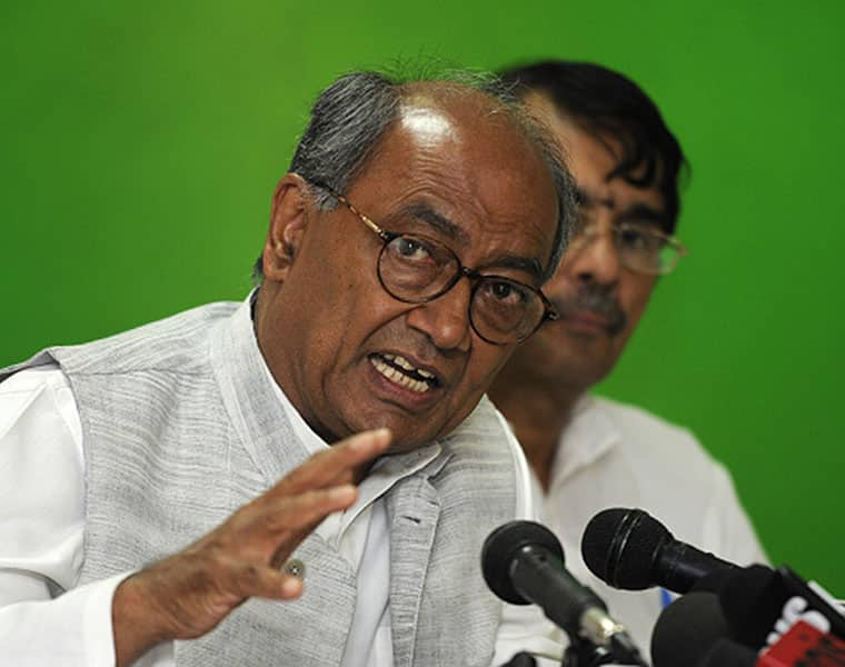 Central Government Employees RSS Shakhas Congress Digvijay Singh