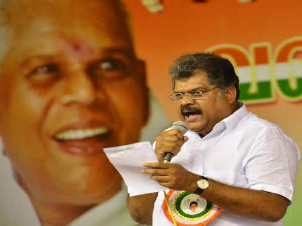 GK Vasan, who was on board a bicycle