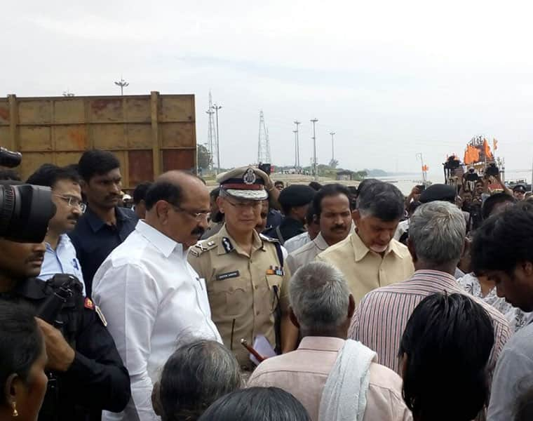 Naidu visited the boat accident place