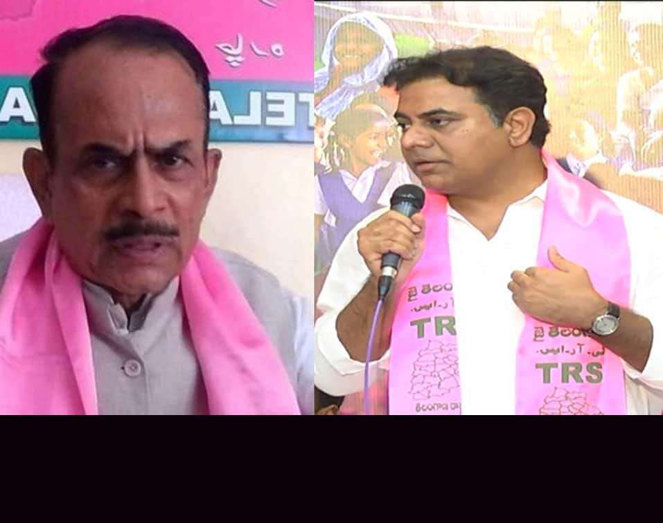 Deputy CM Mahamood Ali son ditches KTR by violating ban on flexes and posters in Hyderabad