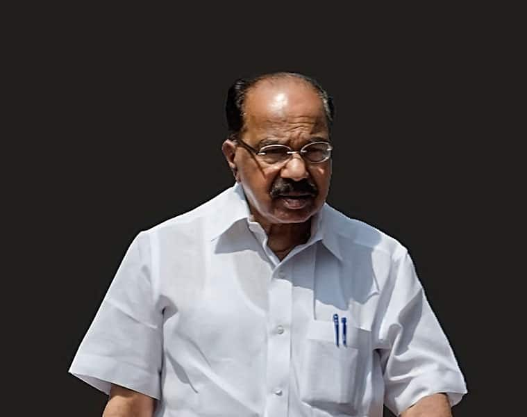 Verappa moily proposes weak government post upcoming loksabha elections