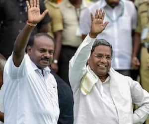 Coalition govt MLAs reach Vidhana Soudha; Anand Singh accompanies Siddaramaiah