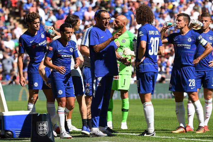 Premier League Chelsea Maurizio Sarri Courtois Hazard  Kepa Football